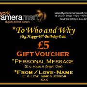 £5 Personalised Voucher
