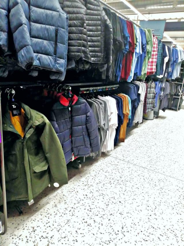 A photo i took of the menswear rail at my local sainsburys in Scarborough.