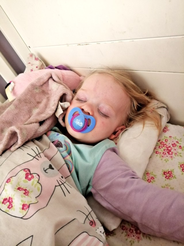Such a feeling of success when moving Toddler from Cot to Toddler Bed and finally getting them settled and asleep.