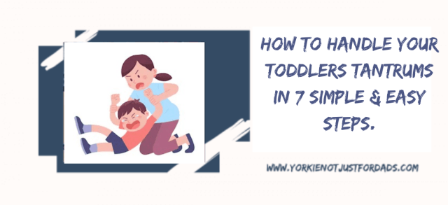 How to deal with your toddlers or children's tantrums in 7 simple & easy steps.