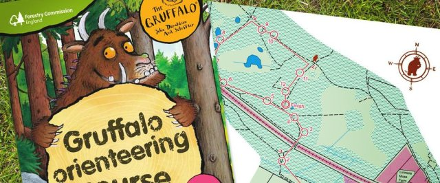 The gruffalo orienteering activity course at dalby forest.