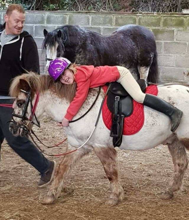 As the step-dad me and my oedest step-daughter mouse bonded well throughout her love of horse riding. I was the active one running around with the lead rein.