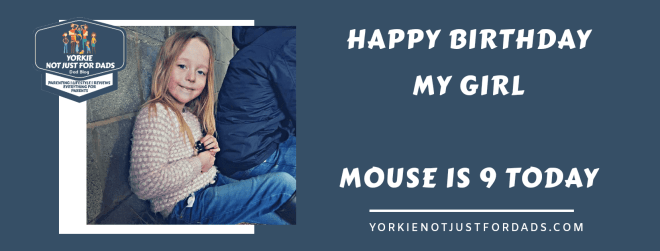 Happy Birthday my girl mouse is 9 today