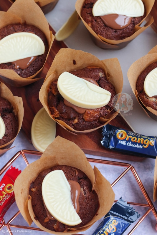 There's nothing quite festive than a Terry's chocolate orange, here from Jane's Patisserie we have a Christmas Baking recipe to make the fantastic Chocolate Orange Muffins.