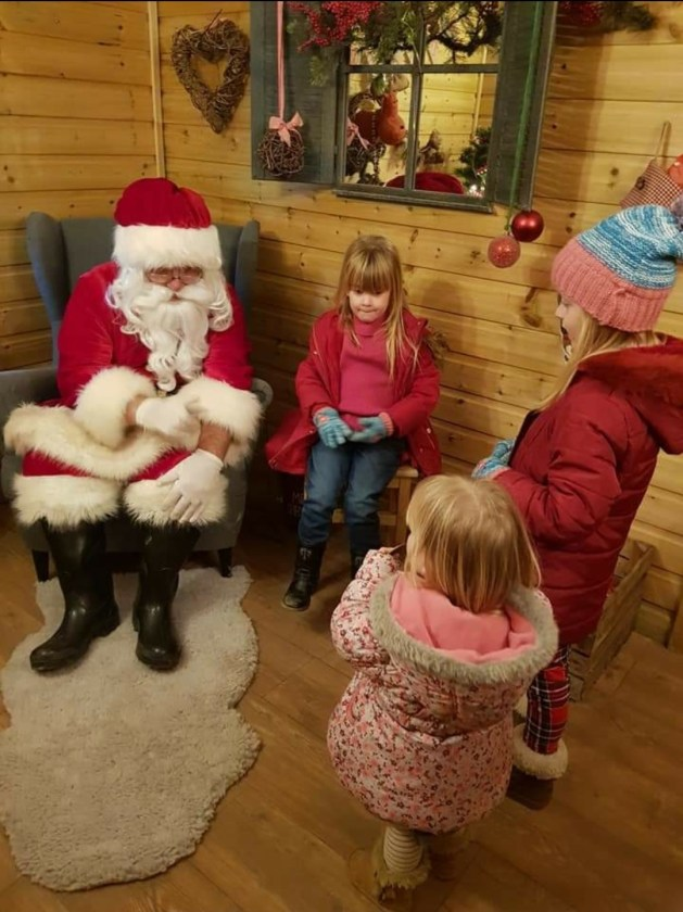 A visit to Santa's Grotto at Stockeld Park, one of our favourite Family Christmas Traditions.