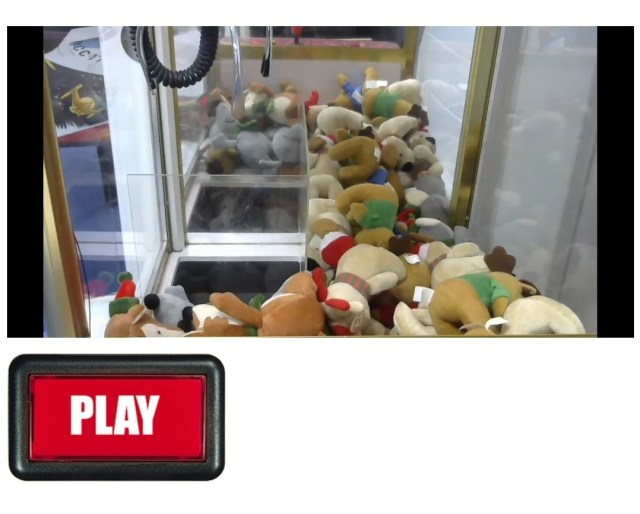 Santa Claws, an arcade claw grab game created to play live by Liberty games.