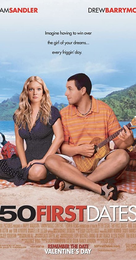 50 First Dates is the first selection of Films to watch on Netflix on valentines day.