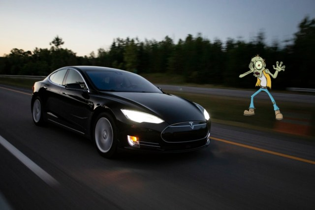 The Tesla Model S, the first EV offering in the line up of which EV is the best choice to survive a zombie apocalypse.