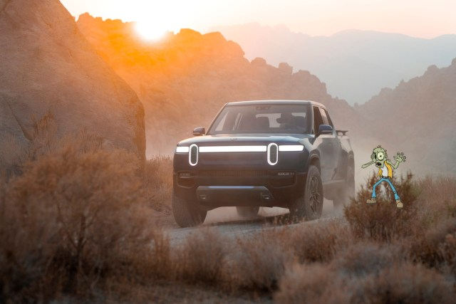 The Rivian R1T Pickup, a great off road choice if the terrain gets rough. Why we have added it into the fray to find out which EV is the best choice to survive a zombie apocalypse.