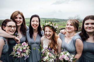 Emma and her Bridesmaids. Photo:
