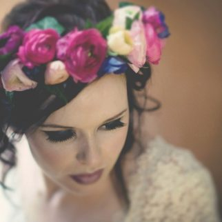 Ranunuculus and Anenome Flower Crown. Photo: Silvery Moon Photography