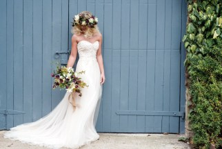 Homegrown Hellebore and Narcissus Flower Crown and Bouquet