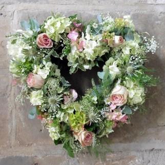 Hydrangea and Rose Heart