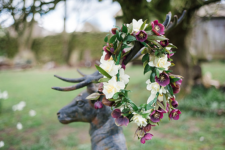 So You're Getting Married – A Spring Editorial With Flower Crowns, Hellebores And Beautiful Bouquets