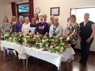 Fundraising Jam Jar Posy Workshop 2017