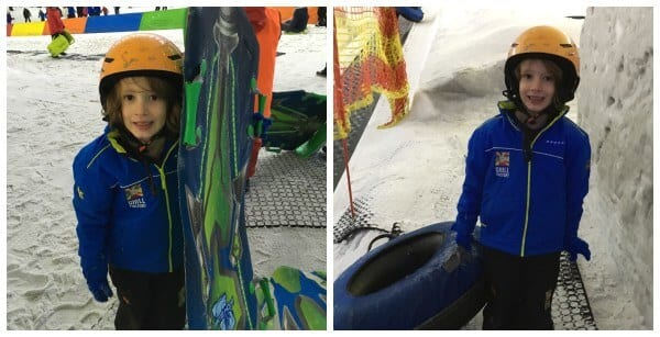 chille factore manchester indoor fun for kids boy with snow tube