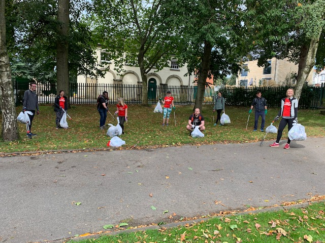 GoodGym Leeds volunteers taking part in a recent litter-picking mission.
