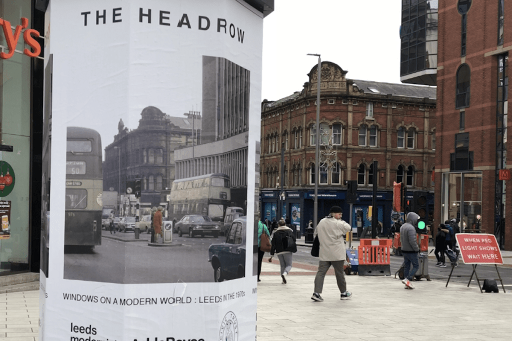 Leeds artists' work takes city centre back to the 70s in outdoor gallery