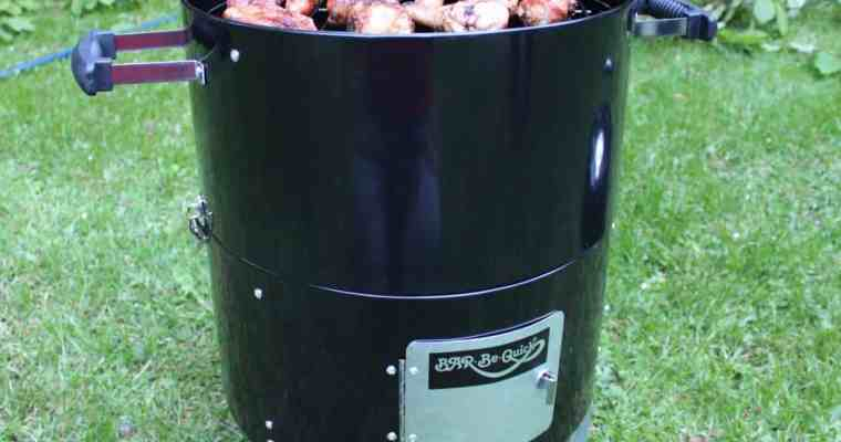 Bar-Be-Quick American Smoker with Heck Sausages!