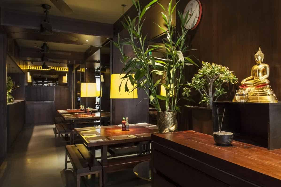 Eating Thai at Busaba in Covent Garden, London