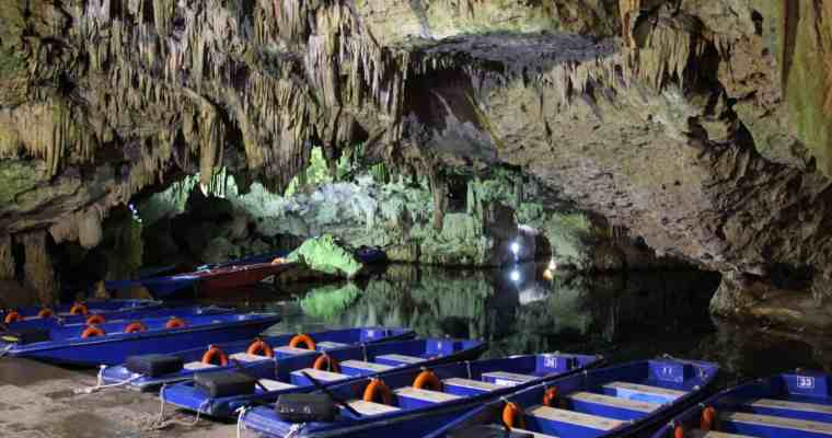 The Caves of Diros at Pyrgos Dirou in the Peloponnese, Greece