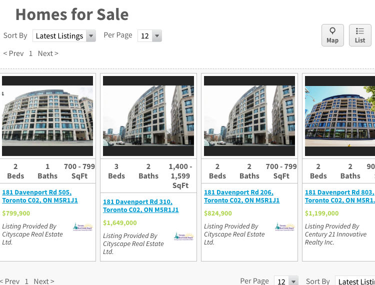 181 Davenport Rd Condos for Sale - Live Listings - Call Yossi KAPLAN