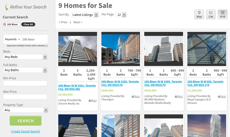 200 Bloor West Condos for Sale - Exhibit Condos Live Listings - Contact Yossi Kaplan