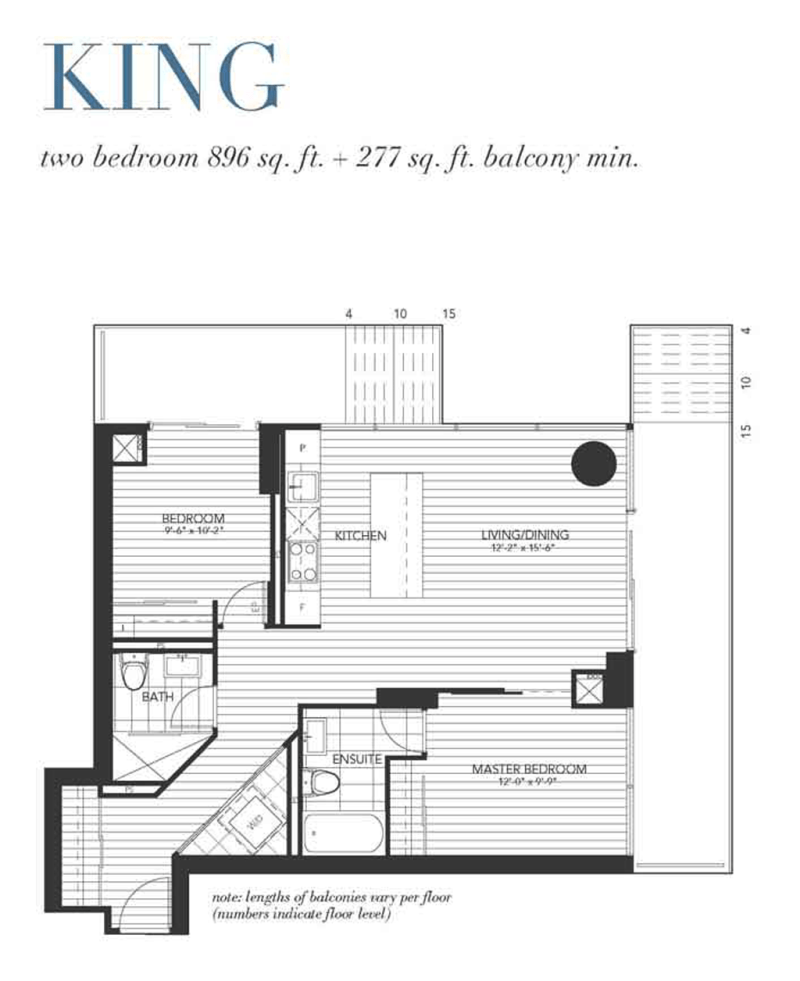 1080 BAY - FLOORPLAN TWO BED 896 SQ FT - CONTACT YOSSI KAPLAN