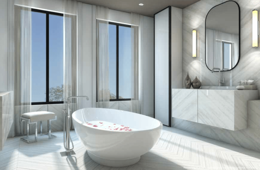 BAYVIEW ESTATES - BATHROOM RENDER - YOSSI KAPLAN REAL ESTATE INVESTMENTS