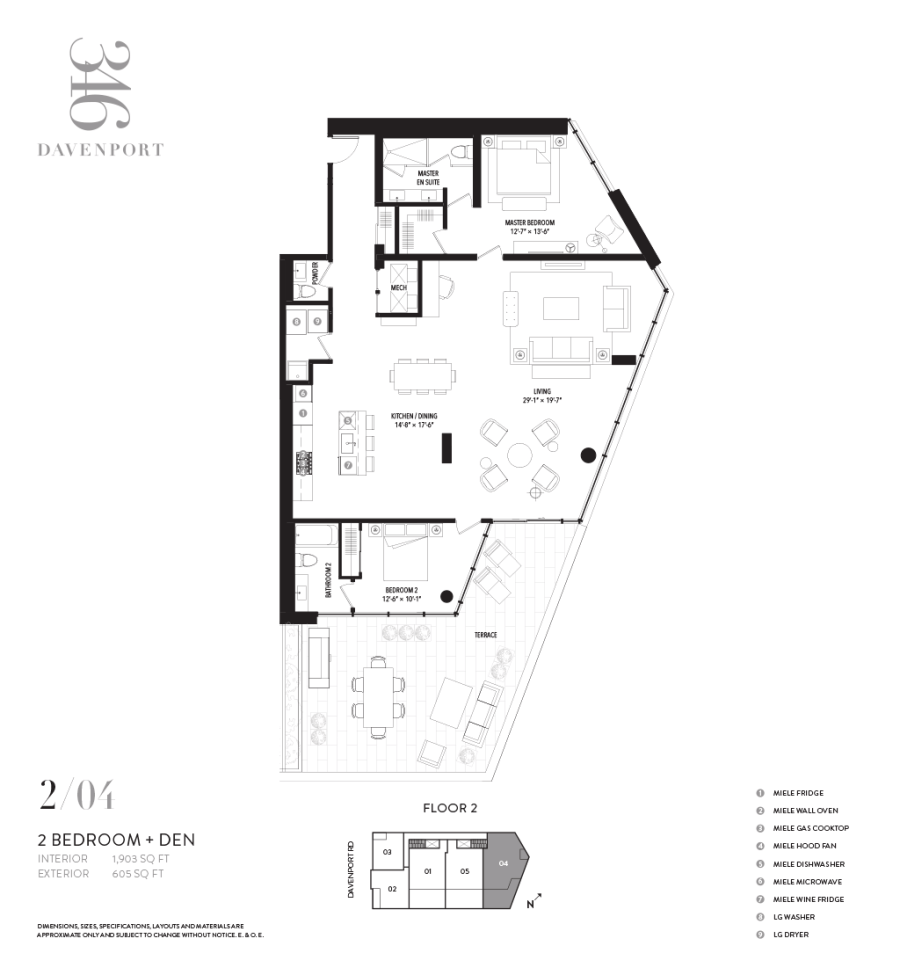 346 DAVENPORT - FLOORPLAN TWO BEDROOM 1903 SQ FT