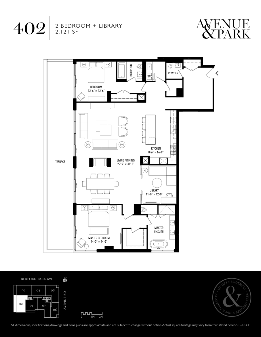 1580 AVENUE - FLOORPLANS TWO BED 2121 SF - CONTACT YOSSI KAPLAN