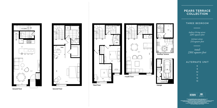 AYC TOWNHOMES - THREE BED FLOORPLAN - CONTACT YOSSI KAPLAN