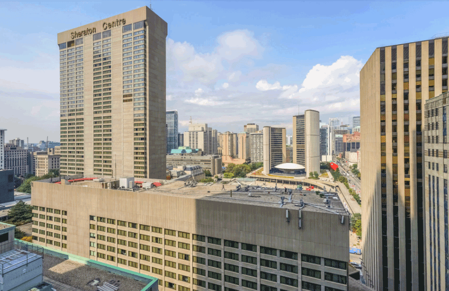 70 Temperance St Condos for Sale - Balcony North View