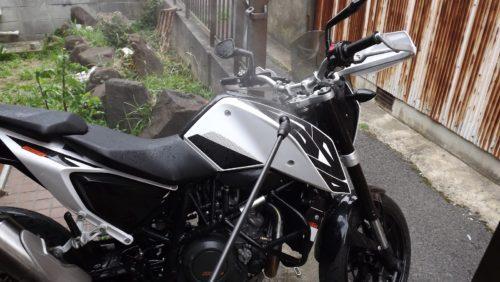 バイク、洗車、方法
