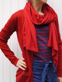 Coco and John Smedley cardigan and scarf