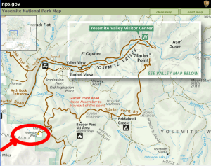 Yosemite Rental Area Map