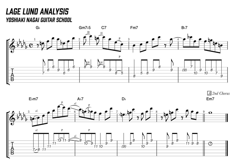 lage-lund,stablemates,transcription,コピー,ジャズギター