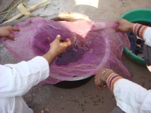 Natural dye in India, 2012.