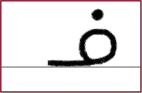 ファー語頭形手書き