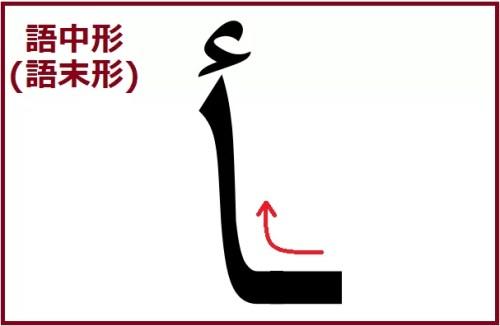 アリフ型のハムザ語中、語末形