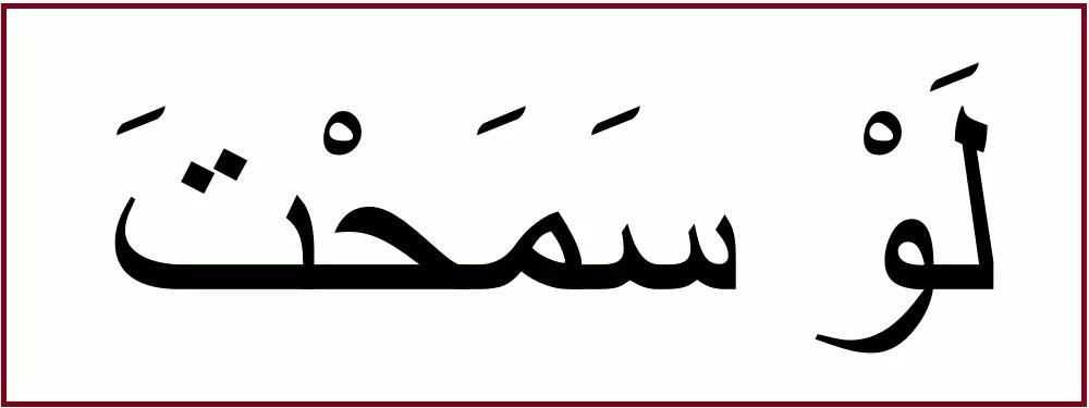 アラビア語で「すみませんが」を意味する「ラウ サマフタ」