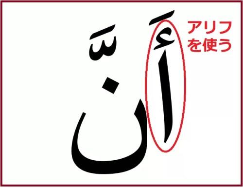 「~ということ」を意味するアラビア語「アンナ」