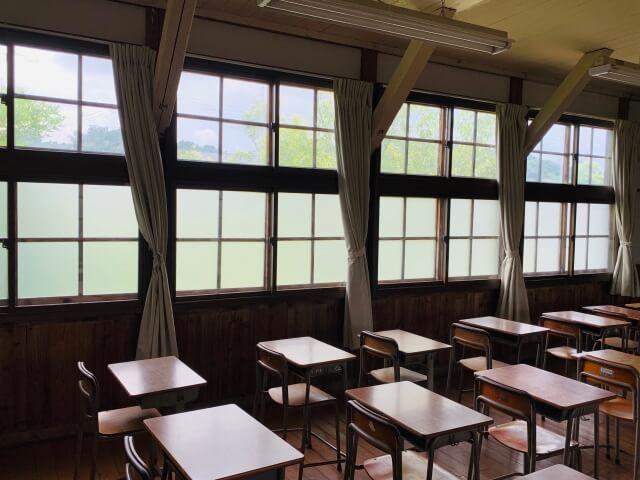 教室に並んだ机といす