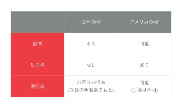 日本のNPとアメリカのNPの違い