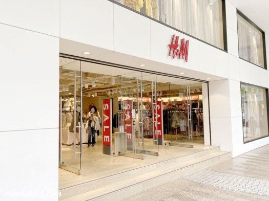 H&M 台北忠孝店大門口
