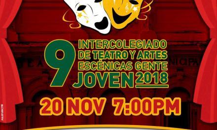 Premiación 9 Intercolegiado de Teatro y Artes Escénicas Gente Joven 2018