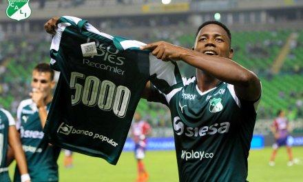Deportivo Cali venció a Unión Magdalena, alcanzó el tercer lugar en la Liga Águila y llegó al gol 5000