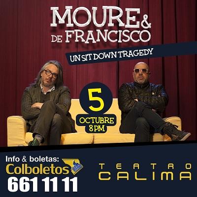 UN SIT DOWN TRAGEDY DE NUEVO EN CALI CON SANTIAGO MOURE Y MARTIN DE FRANCISCO