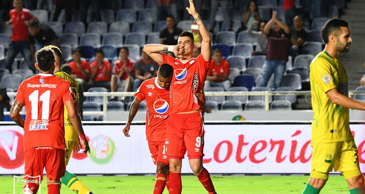 América de Cali igualó 1-1 ante Atlético Bucaramanga en el estadio Pascual Guerrero