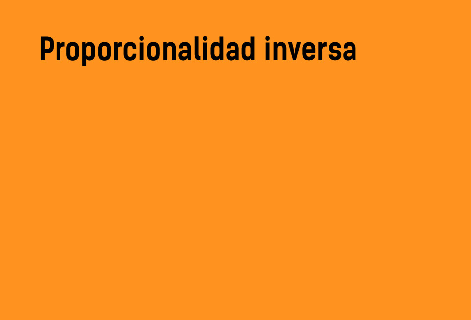 Proporcionalidad inversa   Teoría y ejemplos